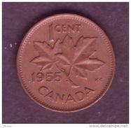Canada, 1955, 1¢, Élizabeth II - Canada