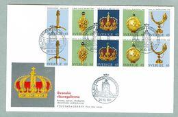 Sweden. FDC 1971. Cachet. Crown Regalia. - FDC
