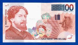 Belgium 100 Francs James Ensor ND (1995) P147 Unc - [ 2] 1831-... : Regno Del Belgio