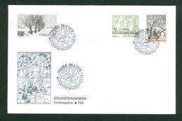 Sweden.  Fdc  1973  Cachet Nature.Designs Trees  Engrav. M. Franzen. Adr. Canada - FDC