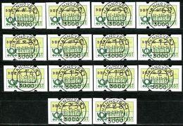 BRD - Michel ATM 1.1 = VS1 - Zentrisch OO Gestempelt 3000 Vom 17.2.81 -  1. Serie 14 Werte - [7] West-Duitsland