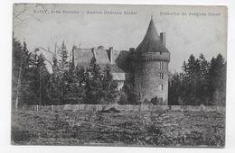 (RECTO / VERSO) BOISY PRES DE ROANNE EN 1916 - ANCIEN CHATEAU FEAODAL - DOMAINE DE JACQUES COEUR -  CPA VOYAGEE - Autres Communes