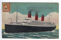 CPA Paquebot Île De France N° 611 G.F. Le Havre - Passagiersschepen