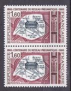 N° 1498 Centenaire De La Poste Pneumatique: Une Paire De 2 Timbres Neuf Sans Charnière - Unused Stamps
