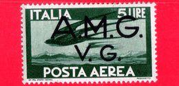 Nuovo - MH -  ITALIA - Trieste AMG VG - 1946 - Serie Democratica - Volo Di Rondini - 5 L.  P. Aerea - 7. Triest