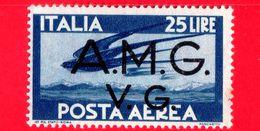 Nuovo - MH -  ITALIA - Trieste AMG VG - 1946 - Serie Democratica - Volo Di Rondini - 25 L.  P. Aerea - 7. Triest