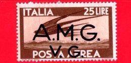 Nuovo - MH -  ITALIA - Trieste AMG VG -1946 - Serie Democratica - Volo Di Rondini - 25 L.  P. Aerea Bruno - 7. Triest
