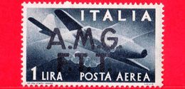 Nuovo - MNH - ITALIA - Trieste AMG FTT - 1947 - Democratica, (due Linee) - Stretta Di Mano, Caproni-Campini 1 - 1 P. Aer - 7. Trieste
