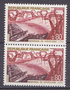 N° 1583 Série Touristique:  Barrage De Vouglans:Une Paire 2  Timbres Neuf Impeccable Sans Charnière - Unused Stamps