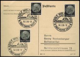 Deutsches Reich SST Adolf Hitler Koog über Marne Neulandhalle Schleswig-Holstein  - Deutschland