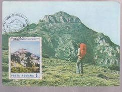 MAXI CARD ROUMANIE, 1989, MOUNTAINS CEAHALAU WITH SPECIAL POSTMARK - Maximumkarten (MC)