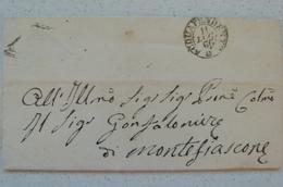 STORIA POSTALE ACQUAPENDENTE (VITERBO) -LETTERA 1866 X MONTEFIASCONE - ...-1850 Préphilatélie