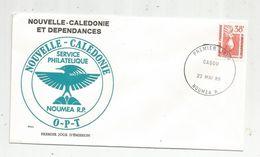 Timbre, FDC , 1 Er Jour , Nouvelle Calédonie Et Dépendances, O-P-T , NOUMEA, 1985 - Nouvelle-Calédonie
