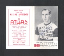 WIELRENNER - CYCLISTE - COUREUR NORBERT COREELMAN - KALENDER 1965 MET  HANDTEKENING (8958) - Cyclisme