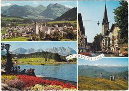 Kitzbühel: VW T1-'SAMBA' BUS- Hauptstraße, Schwarzsee, Alpen Gegen Großvenediger - (Tirol, Austria) - Toerisme