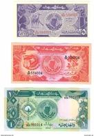 Sudan (North) Set Lot 25 - 50 Piastres & 1 Pound 1987 UNC - Soudan
