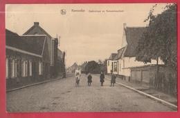 Kemzeke - Statiestraat En Gemeenteschool  - 1925 ( Verso Zien ) - Stekene