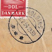 Lettre Danmark KOLDING 1930 Danemark Sigurd Sørensen Poste Aérienne Bruxelles Belgique - Luchtpostzegels