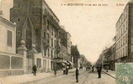 CPA - MONTREUIL-sous-BOIS (93) - Aspect De La Rue De Paris Au Début Du Siècle - Montreuil