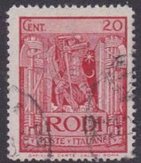 Italy-Colonies And Territories-Aegean General Issue-Rodi S 58 1932 Pictorials Perf 14  20c Red Used - Ägäis (Rodi)
