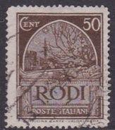 Italy-Colonies And Territories-Aegean General Issue-Rodi S 61 1932 Pictorials Perf 14  50c Dark Brown Used - Ägäis (Rodi)