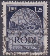Italy-Colonies And Territories-Aegean General Issue-Rodi S 62 1932 Pictorials Perf 14  Lire 1.25 Blue Used - Ägäis (Rodi)
