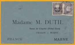 1894 - Enveloppe Du Pérou Vers La France - Affranchissement 11c - Cad Arrivée à Châlons Sur Marne - Perú