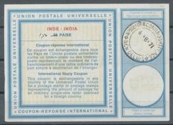 INDE / INDIA Type XIX  1.50 / 98 PAISE  International Reply Coupon Reponse Antwortschein IRC IAS O NEW DELHI 6.8.71 - Sin Clasificación