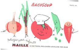 Po BM/Buvard Babysoup Maille  (Format 21 X 14)(N= 1) - Potages & Sauces