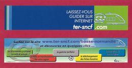 Marque Page.  SNCF.  TER Basse-Normandie - Segnalibri