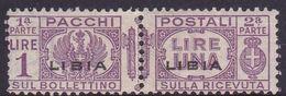 Italy-Colonies And Territories-Libya PP 10 1915-24 Parcel Post,1 Lira Violet MNH - Libya