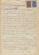 Yugoslavia 1947 Issues Serbia 1941 WWII Nazi Occupation Red Overprinted DFJ  4 Administrative Stamp Revenue Tax Document - 1945-1992 Socialistische Federale Republiek Joegoslavië