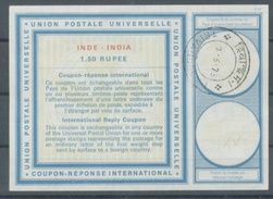 INDE / INDIA Type XX  1.50 RUPEE  International Reply Coupon Reponse Antwortschein IRC IAS O TRIVANDRUM 10.3.73 - Briefe