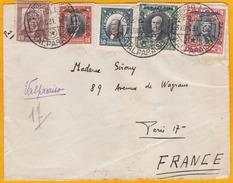 31 Décembre 1931 - Enveloppe De Valparaiso Par Avion Vers Paris - Via Ligne Mermoz - Cad Transit Et Arrivée - Chili