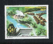 POLINESIA FRANCESE-1991:valore Nuovo S.t.l. Da 307 F.-50° Della Cassa Centrale Di Cooperaz. Econom.-in Buone Condizioni. - Polinesia Francese