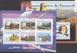 N500 2009 REPUBLIQUE DE GUINEE AVIATION ANNIVERSAIRE DU CONCORDE 1BL+1KB MNH - Concorde