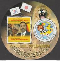 Cameroun 2002 Y&T BF 34 Michel Block 35. Coupe De Monde De Football. Lions Indomptables. Cote 100 € - World Cup