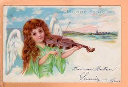 Cpa Carte Postale Ancienne - Illustrateur Buone Feste - Musicien Violon - Illustrateurs & Photographes
