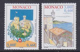 Europa Cept 2001 Monaco 2v ** Mnh (36896B) @ BELOW Face - Europa-CEPT