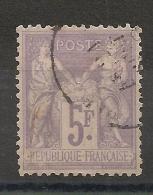 Centrage Parfait. 5F SAGE. Bonne Dentelure. - 1876-1898 Sage (Type II)