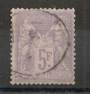 5F SAGE. Oblitération Légère. - 1876-1898 Sage (Type II)