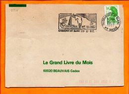 HAUTE SAVOIE, Chamonix Mont Blanc, Flamme SCOTEM N° 5530 - Marcophilie (Lettres)