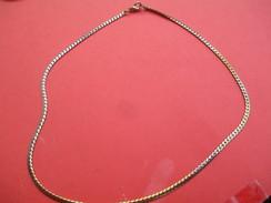 Bijoux Fantaisie/Grande Chaine à Mailles Serpent /Métal Doré/40 Cm / Vers 1970-1980     BIJ65 - Bracelets