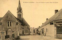 SAINT MARS LA BRIERE - Rue Du Château Et Petite Place De L'Eglise Affiches Dont Concours Agricole - Autres Communes