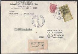 TY101    SAVONA 1977 Propaganda  Per La Fedeltà Contributiva £. 120 + Siracusana £. 400  Raccomandata - 1946-.. République