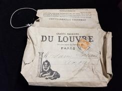 Enveloppe Publicitaire GRANDS MAGASINS DU LOUVRE 75 PARIS A Levroux 36 Timbre Poste Semeuse 30c Orange Rue Rivoli Palais - Cartas