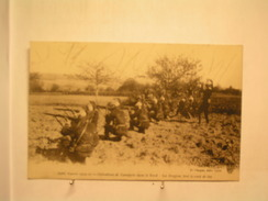 Militaria - Guerre De 1914 / 15 - Opérations De Cavalerie Dans Le Nord - Les Dragons Font Le Coup De Feu - War 1914-18