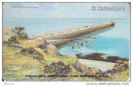 "JERSEY ISL. - Jersey Coasts/St.Catherine""s, CN : 28JERD(normal 0), Tirage %20000, Used - United Kingdom"