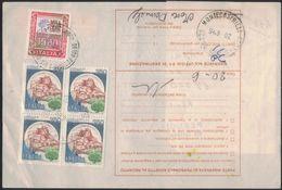 TY103    Alti Valori £.1500 +  Quartina Castelli £.350 - Bollettino Pacchi 1986 - 1946-.. République