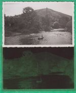 15 - Massiac - Photo Et Négatif - Un Jeune Garçon Faisant Du Canoë Dans La Rivière (Cantal) - Lieux